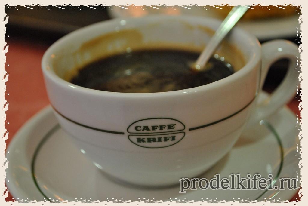 кофе в автогриле в Италии