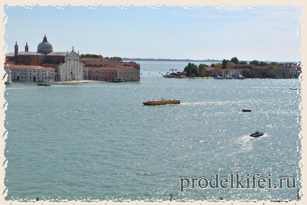 вид с окна дворца Дожей на акваторию Венеции