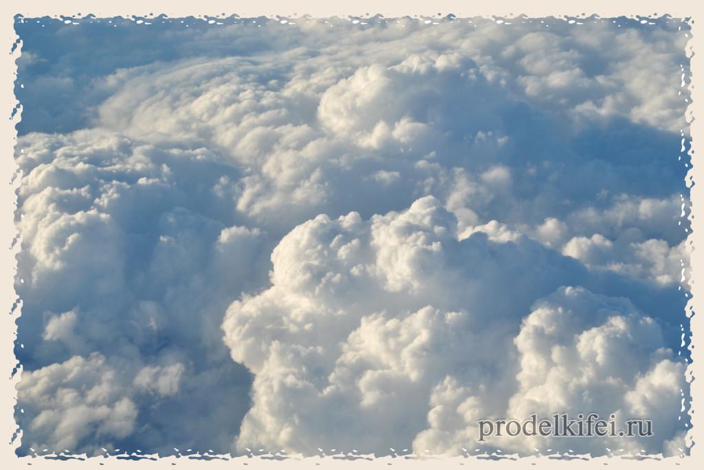 красивые облака из самолета