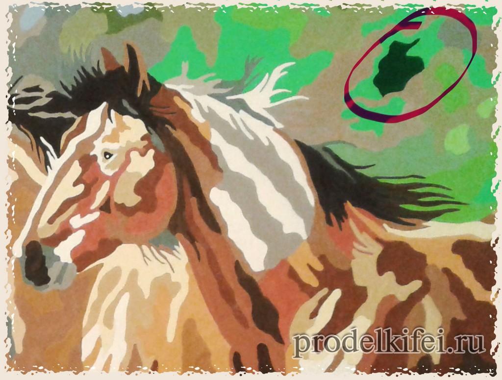 лошади по номерам картина