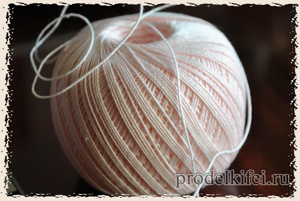 клубок ниток ирис для оформления подарка