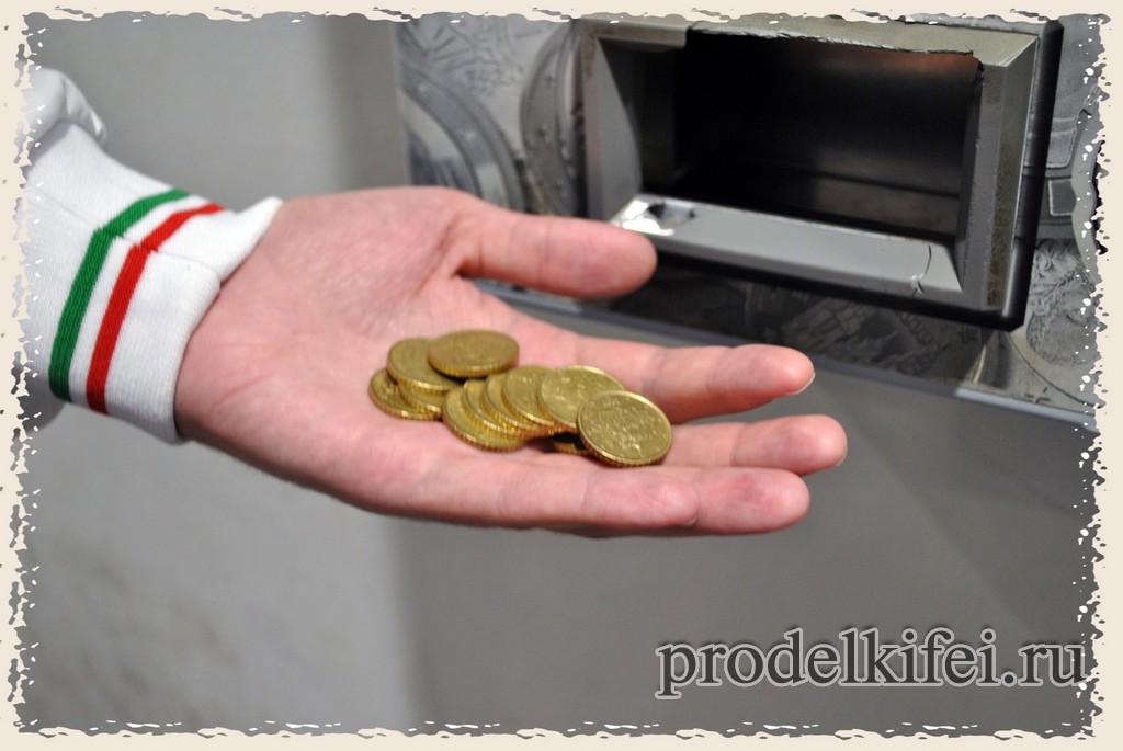 как разменять крупные деньги в Италии