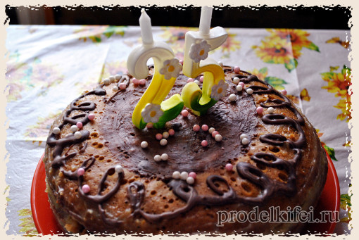 биксвитный торт с медовыми коржами
