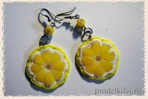 лимончики из полимерной глины