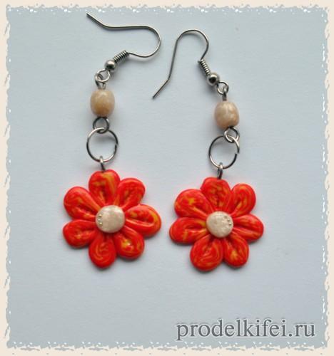 простые цветочки из полимерной глины