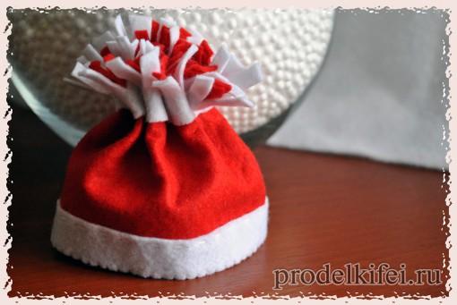 11 шапочка для снеговика из фетра готова