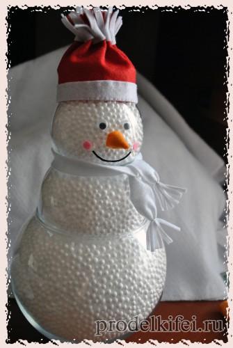 14 снеговик своими руками с шарфом