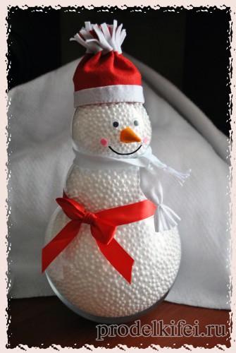 15 снеговик на новый год своими руками