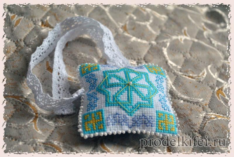 подушка-оберег славянская вышивка