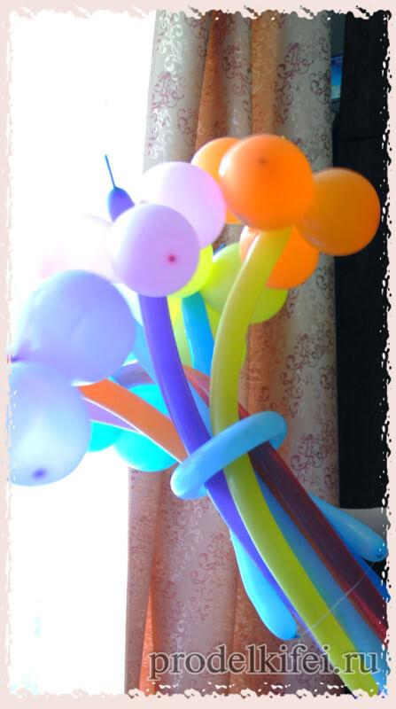цветы из шариков на вечеринку