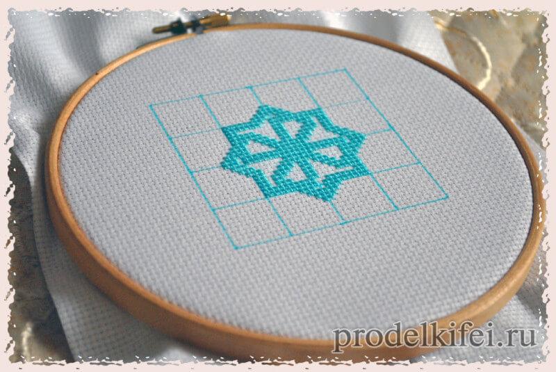 вышиваем молвинец крестиком