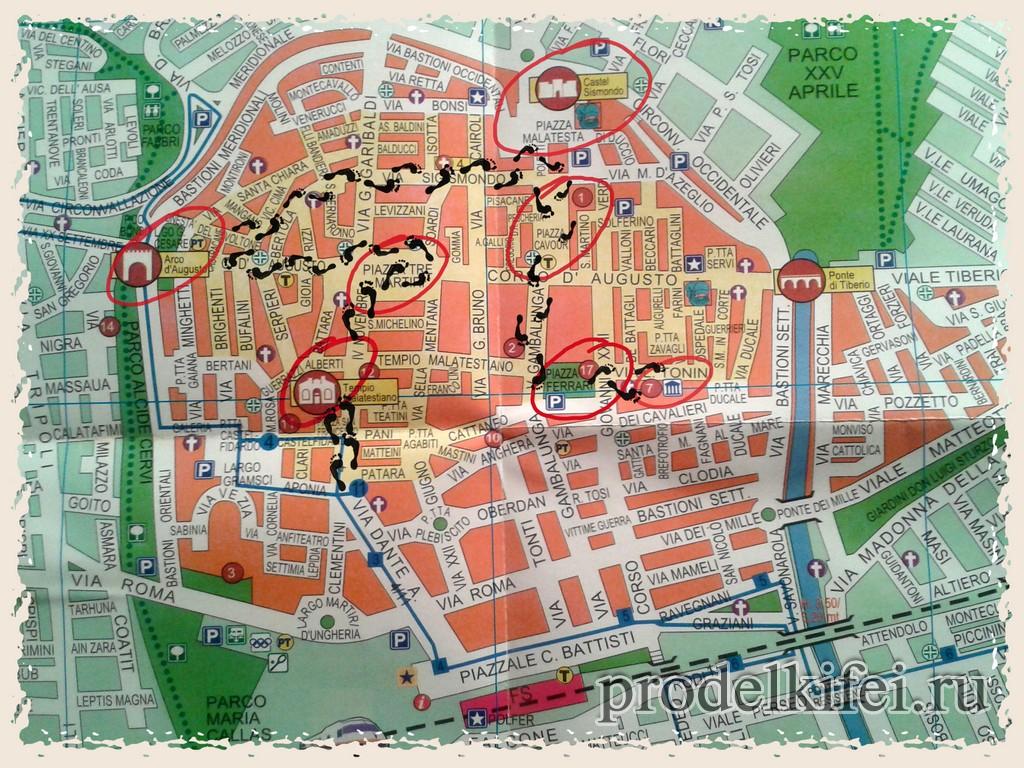 Villamartin Rimini sulla mappa