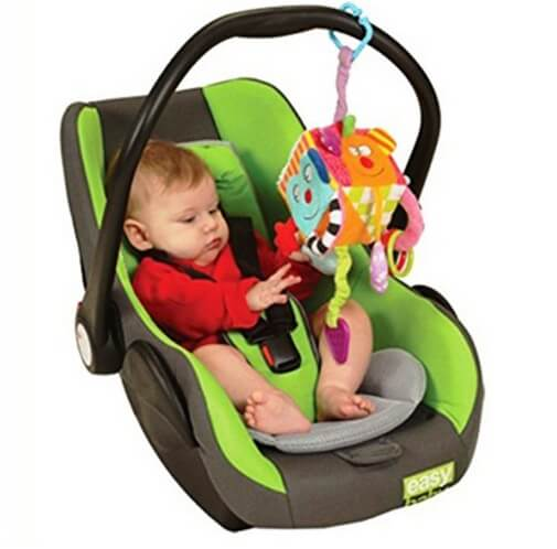 cube with teether for baby in the car