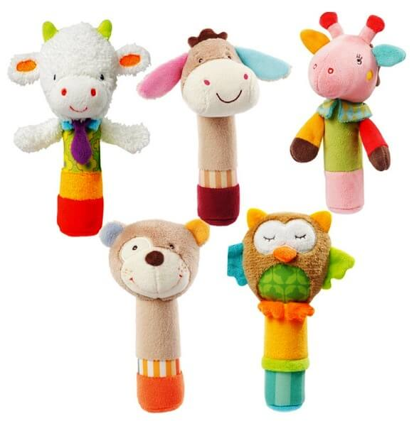 rattle with animals for a small child