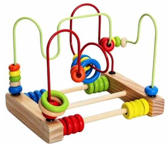 toy abacus with a maze for a child's development